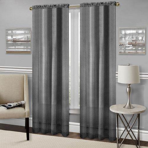 Achim Importing Company Richmond Black 63 x 52 In. Window Curtain Panel