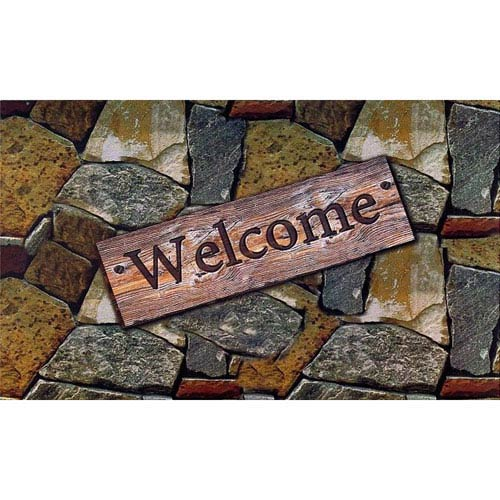 Achim Importing Company Welcome Quarry Stones  18 x 30-Inch Welcome Mat