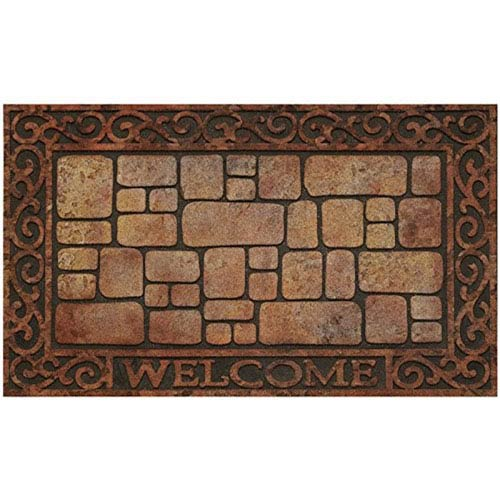 Achim Importing Company Paver Scroll 18 X 30 Inch Raised Rubber Mat