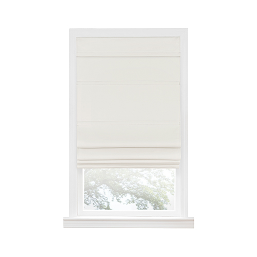 Ivory 64 x 27 In. Cordless Blackout Roman Window Shade