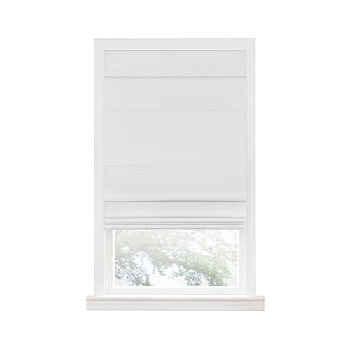 White 64 x 35 In. Cordless Blackout Roman Window Shade