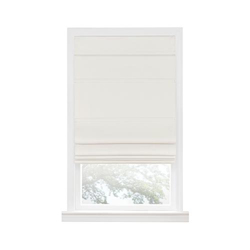 Ivory 64 x 36 In. Cordless Blackout Roman Window Shade