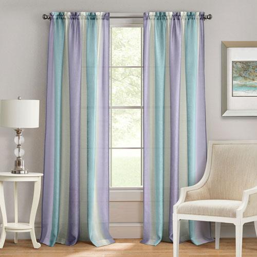 Spectrum Lilac and Turquoise 63 x 50 In. Window Curtain Panel