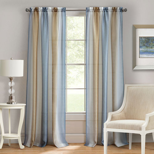 Spectrum Silver and Gold 63 x 50 In. Window Curtain Panel