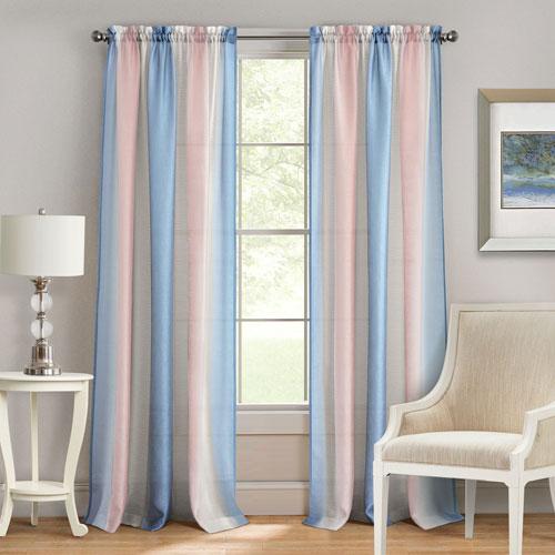 Spectrum Rose Quartz and Serenity 84 x 50 In. Window Curtain Panel