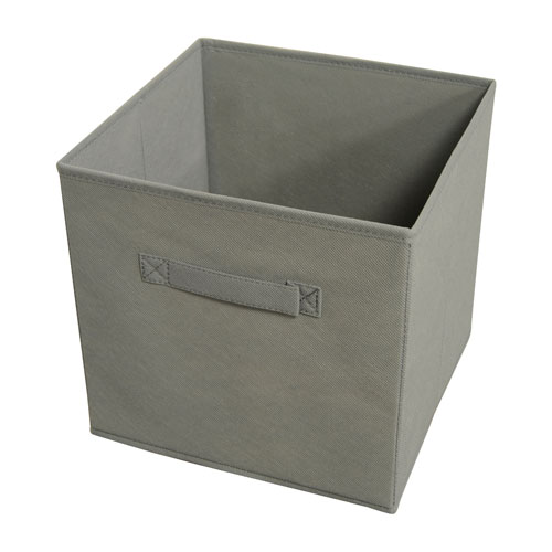 Collapsible Gray Storage Bins, Set of Four