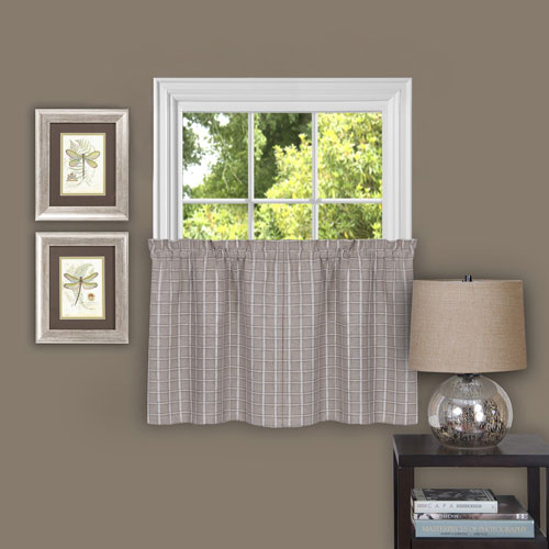 Achim Importing Company Sydney Linen 58 x 24-Inch Window Tier Pair