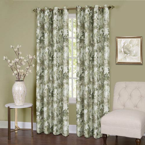 Achim Importing Company Tranquil Green 84 x 50 In. Window Curtain Panel