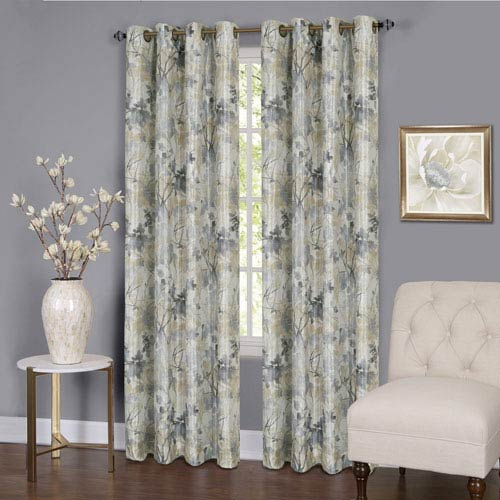 Achim Importing Company Tranquil Silver 84 x 50 In. Window Curtain Panel