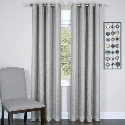 Achim Importing Company Taylor Silver 63 X 50 In Curtain Panel