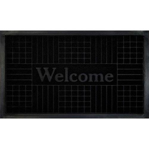 Black Geometric 18 x 30-Inch Welcome Mat