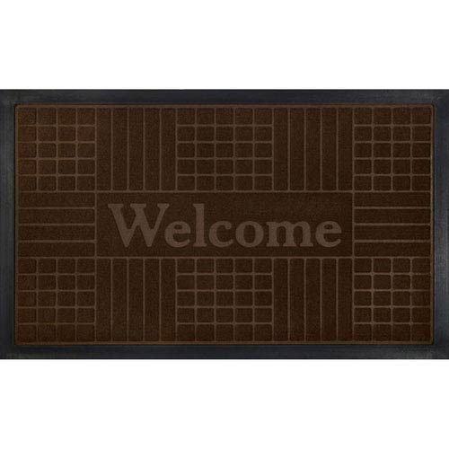 Coffee Geometric 18 x 30-Inch Welcome Mat