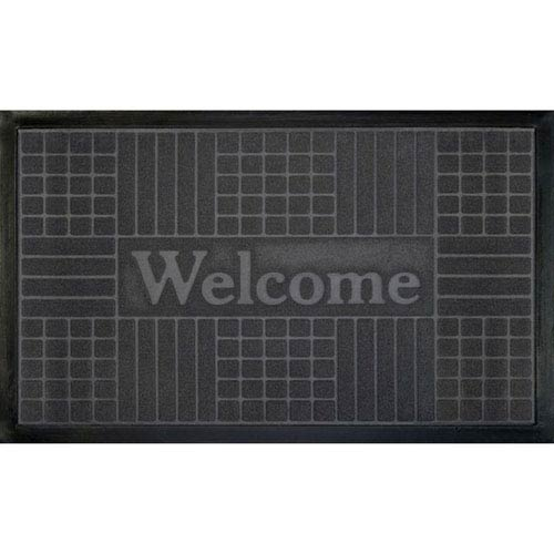 Gray Geometric 18 x 30-Inch Welcome Mat
