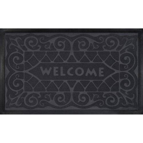 Gray Wrought Iron 18 x 30-Inch Welcome Mat