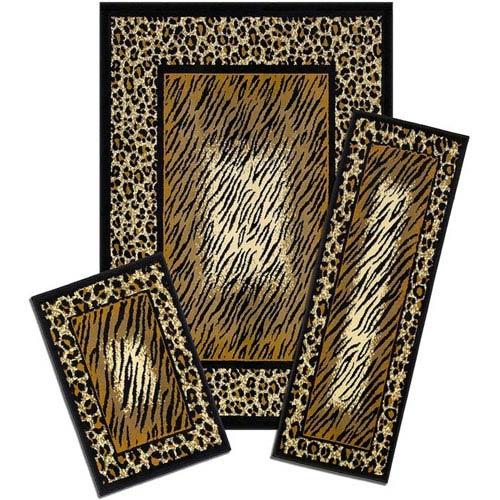 Capri Leopard Skin, Three-Piece Rug Set