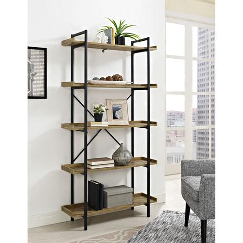 68-Inch Urban Pipe Bookshelf - Barn wood