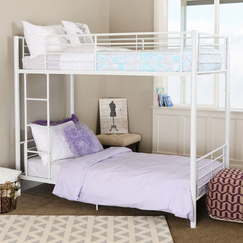 Sunrise White Twin/Twin Bunk Bed