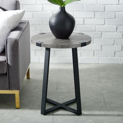 Slate Grey Side Table