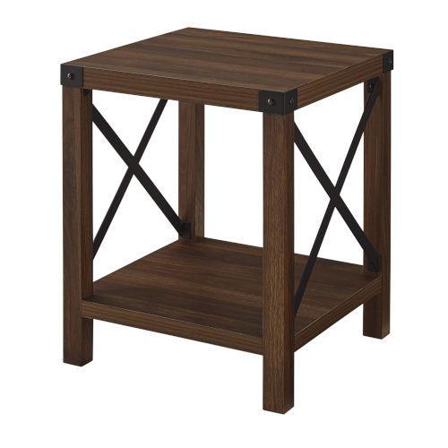 Dark Walnut 18-Inch Wood Side Table