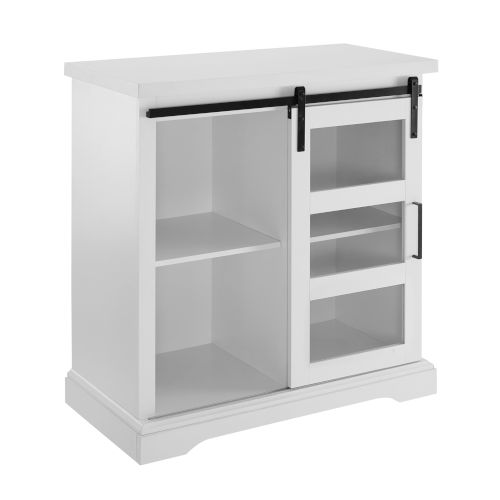 Solid White  32-Inch Buffet
