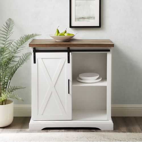 Solid White and Barnwood Buffet