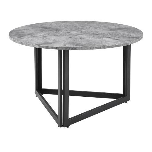Dark Concrete 32-Inch Round Coffee Table