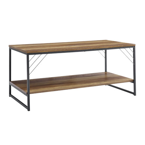 Troy Barnwood and Black Accent Coffee Table