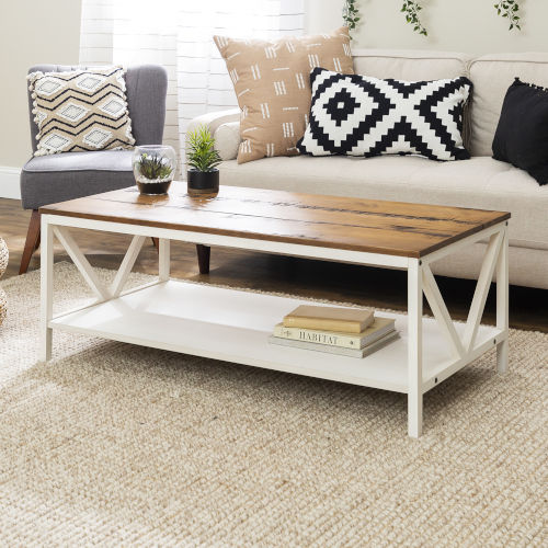 Natalee Barnwood and White Coffee Table