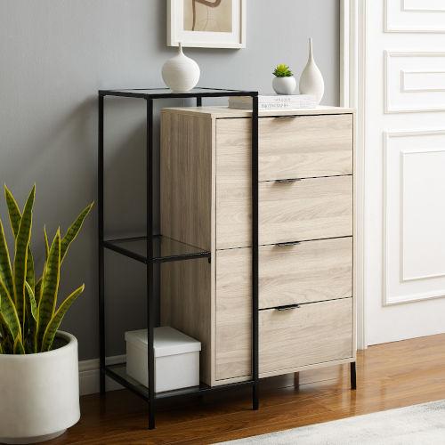Isabella Birch Four-Drawer Cabinet