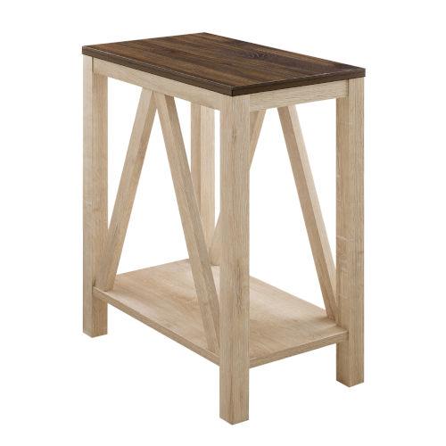 Dark Walnut and White Oak Side Table