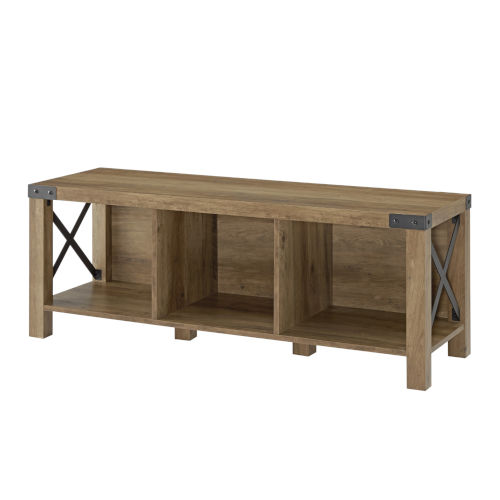 Reclaimed Barnwood 48-Inch Entry Bench
