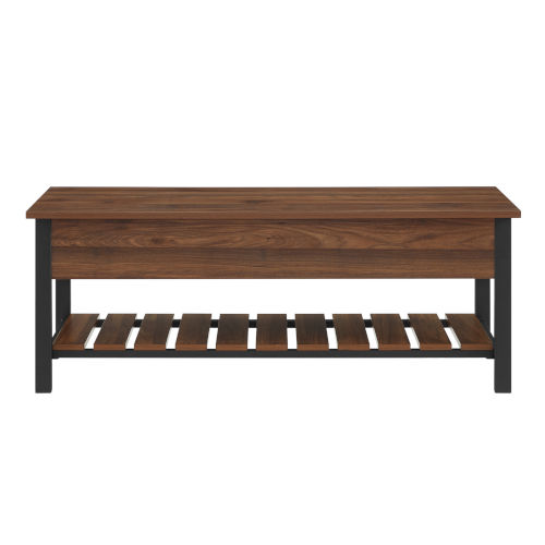 Dark Walnut 48-Inch Storage Bench