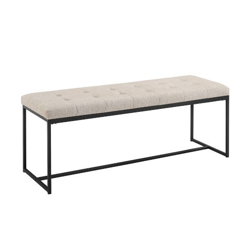 B 48-Inch Upholstered Tufted Bench