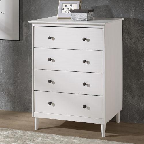White Four Drawer Dresser