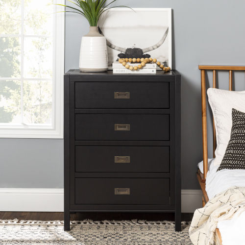 Lydia Black Chest with Four Drawer