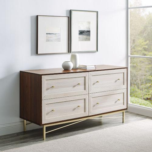 Gwen Dark Walnut White Poplar Four-Drawer Dresser