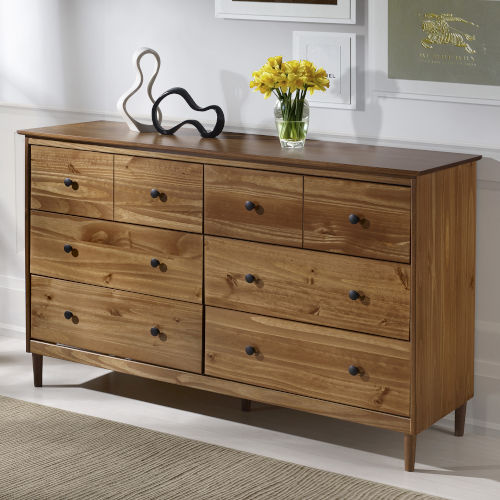 Caramel Six Drawer Dresser