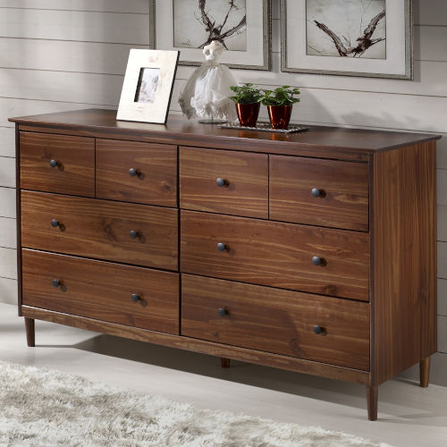 Walnut Six Drawer Dresser