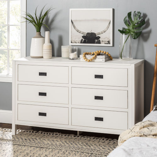 Lydia White Dresser with Six Drawer
