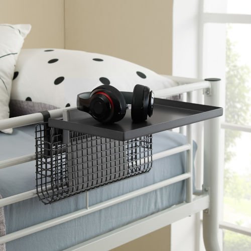 Universal Gunmetal Bunk Bed Shelf