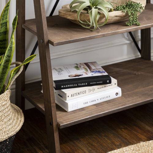 Brown 68-Inch Bookshelf