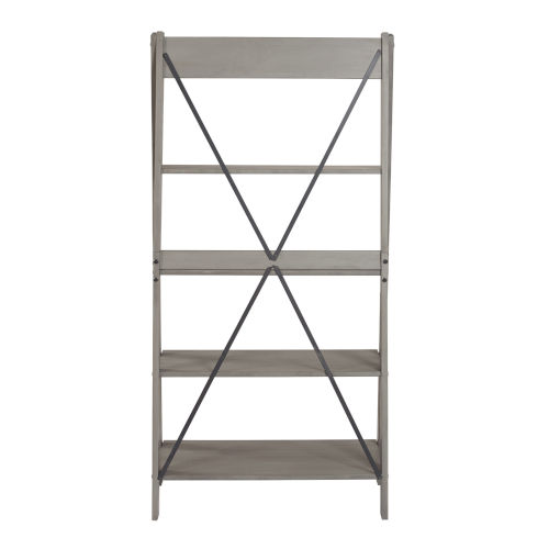 Gray 68-Inch Bookshelf