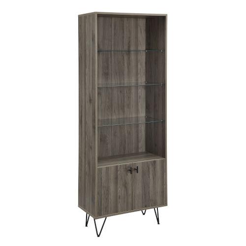 Slate Gray 68-Inch Storage Cabinet