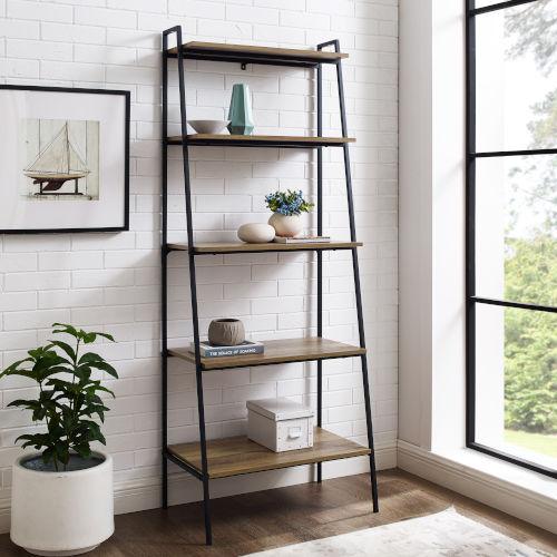 Reclaimed Barnwood  72-Inch Bookcase