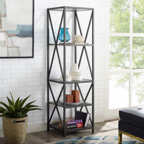 Slate Grey Bookcase