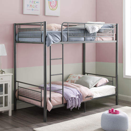 Gunmetal Mesh Frame Bunk Bed