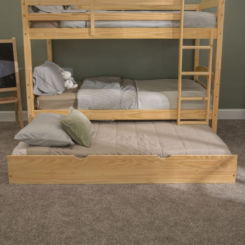 Natural Twin Trundle Bed