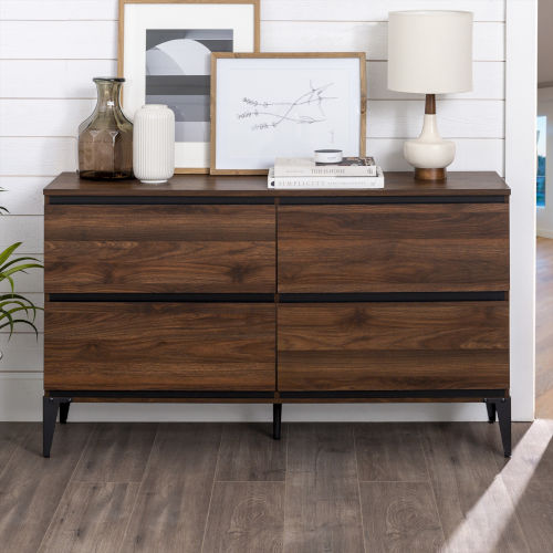 Elroy Dark Walnut and Black Storage Console