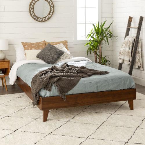 Walnut Queen Platform Bed