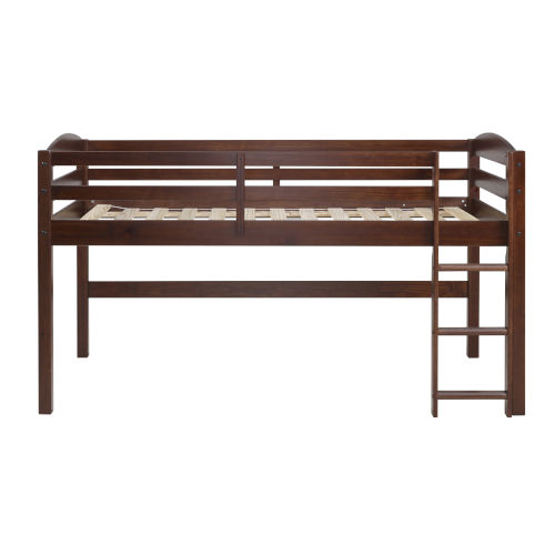 Walnut Low Loft Twin Bed